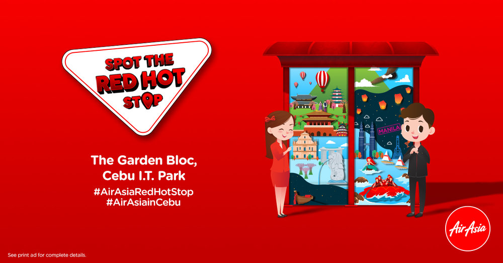 Win You Dream Holiday and spot the #AirAsiaRedHotStop Today!